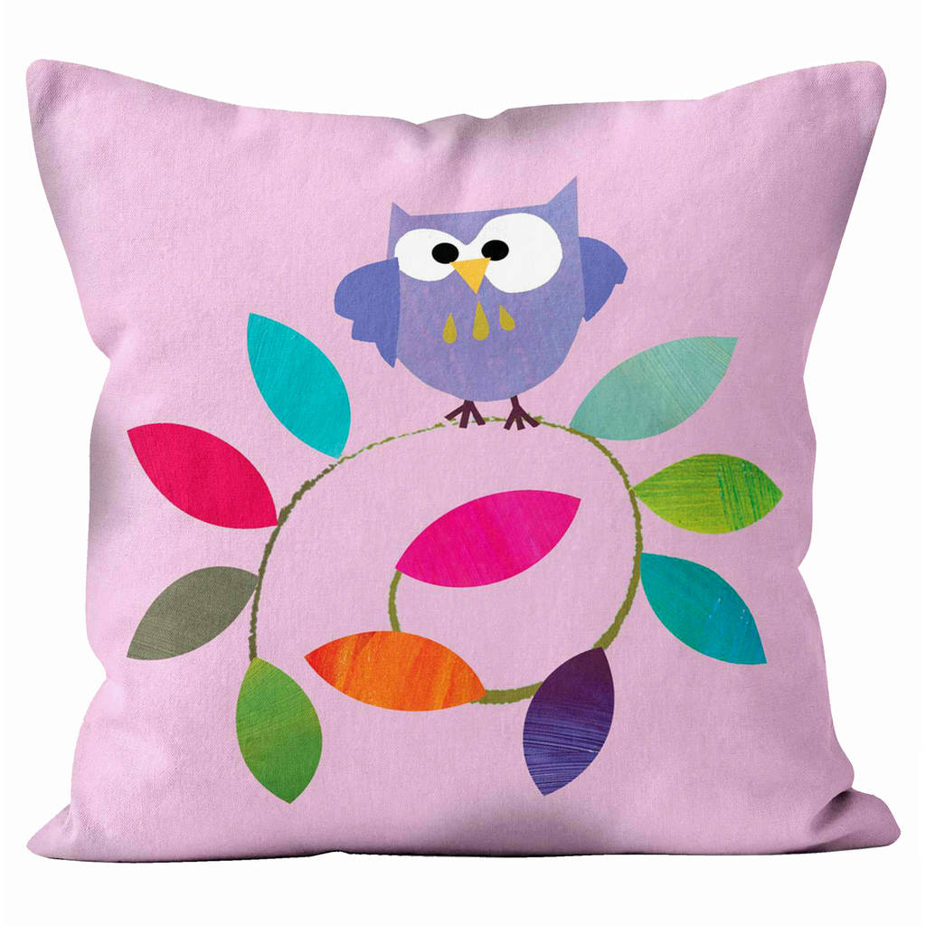 Owl Branch Cushion