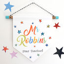 Star Teacher Wall Hanging Print Gift