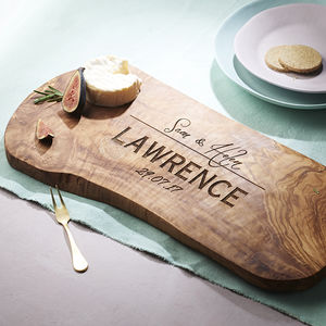 Personalised Wooden Chopping/Cheese Board - 5th anniversary: wood