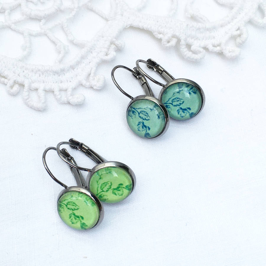 Silver French Style Earrings