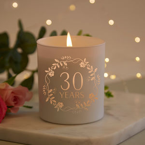 Wedding Anniversary Gift Scented Candle Any Years