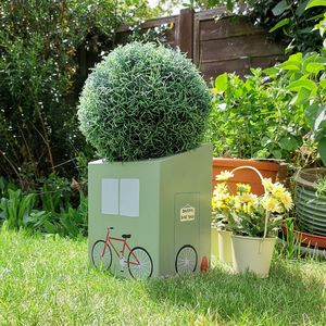 Personalised Bike Shed Mini Planter