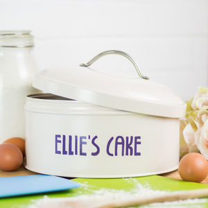 Personalised Cake Tin - for foodies