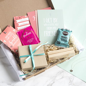 Personalised Friendship In A Box Gift Box - teas, coffees & infusions