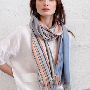 Cecile Handwoven Silk Scarf - 50th birthday gifts