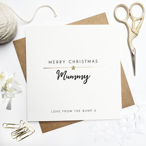 'Merry Christmas From The Bump' Foiled Card