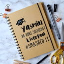 Personalised Smashed It Graduation Notebook