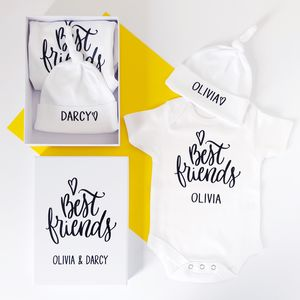 'Best Friends' Personalised Twin Gift Set Boxed