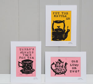 Personalised Tea And Coffee Quote Print - food & drink prints