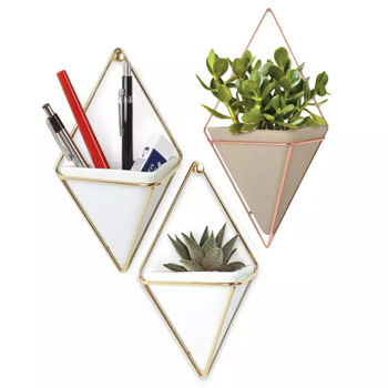 Large Geometric Wall Planter