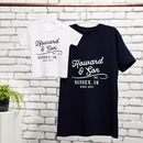 Personalised Vintage Father And Child T Shirt Set