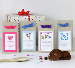 Personalised Chocolate Chip Cookie Mix Party Bags - creative activities