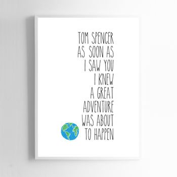 Personalised Adventure Print Sign