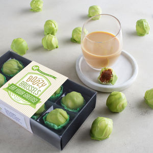 Boozy Chocolate Brussels Sprouts With Baileys - foodies
