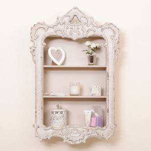 Ornate French Neo Classical Wall Mount Shelf Cabinet - kitchen