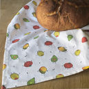 Fruit And Veg Pattern Tea Towel