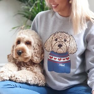 Personalised Dog Lover Valentine Sweatshirt Jumper