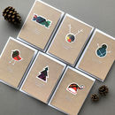 Set Of Scottish Christmas Cards By Hiya Pal