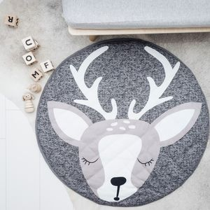 Baby And Children's Grey Deer Playmat - nature's nursery