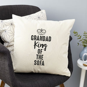 Personalised King Of The Sofa Cushion