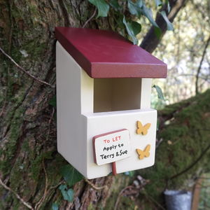 Personalised Handcrafted Robin Bird Box - birds & wildlife