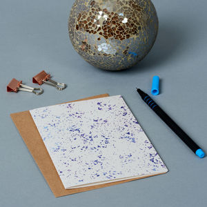 Purple Speckle Greeting Card