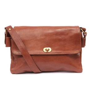 Pochette Three Poches Leather Shoulder Bag - bags & purses