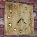 Copper And Reclaimed Scaffold Clock