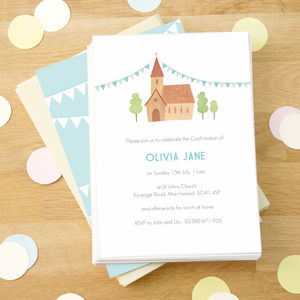 Personalised Confirmation / Communion Invitations