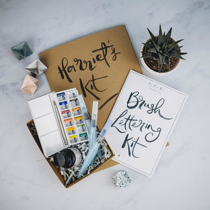 Personalised Brush Lettering Craft Kit
