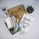 Personalised Brush Lettering Kit