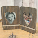 Personalised Two Heart Folding Frame