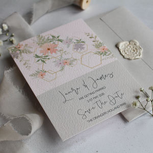 Suki Wedding Invitation - save the date cards