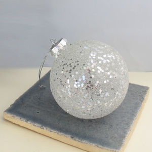 Bauble With Silver Sequins