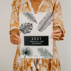 2021 Tropical Leaf Illustration Calendar