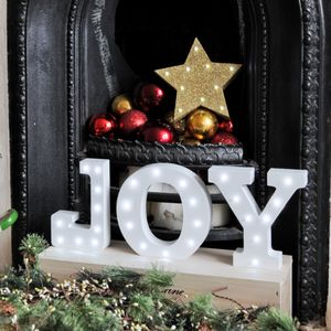 White Light Up Christmas Letters - lighting
