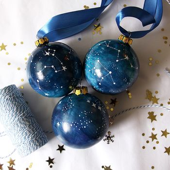 Midnight Blue Galactic Bauble