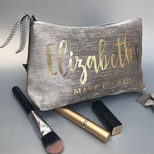 Bride Luxury Velvet Makeup Bag With Silver Trim
