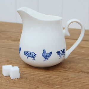 'Farm Animals' China Jug - kitchen