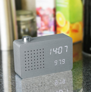 Aluminium Radio Click Clock - gifts for brothers