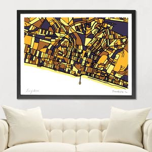 Brighton Map Art Print