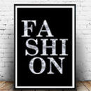 'Fashion' Wall Art Fashion Print