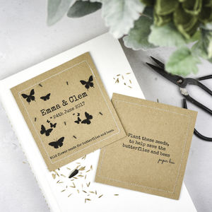 Wildflower Seed Wedding Favours Personalised Butterfly - wedding favours