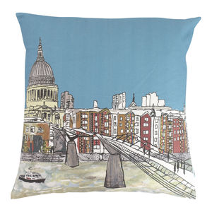 Millennium Bridge Cushion - bedroom