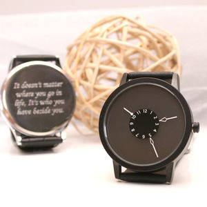 Personalised Wrist Watch Inside Out Design - gifts for him