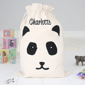 Personalised Toy Sack Panda - storage bags