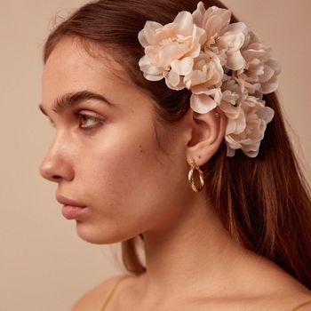 Franny Flower Hair Pins Blush