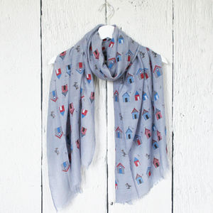 Beach Huts Print Scarf - scarves