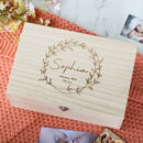 Personalised Baby Wreath Keepsake Memory Box