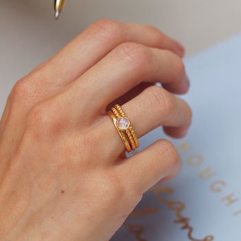 Trio Of 18ct Gold Stacking Rings